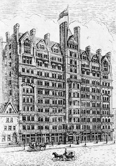 The Chelsea Hotel in 1884