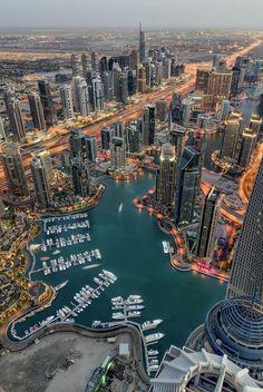 Dubai Marina Aerial view