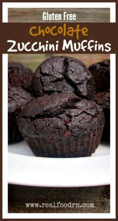 Gluten Free Chocolate Zucchini Muffins  Real Food RN