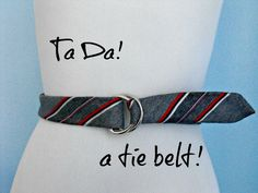 crafty little gnome: How to Make a Belt from an Old Tie