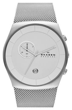 Skagen Chronograph Mesh Strap Watch, 42mm available at #Nordstrom