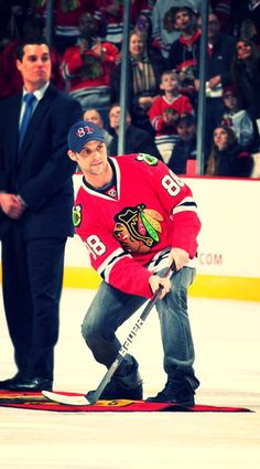 "Actor Jesse Spencer of ""Chicago Fire"" participated in Shoot the Puck on Sunday!"