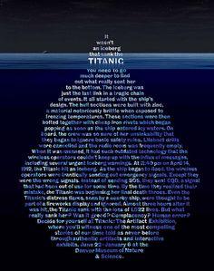 It wasn't an iceberg that sank the Titanic