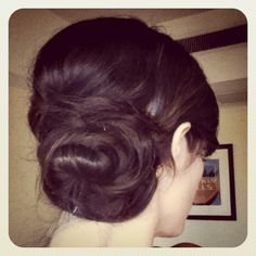 Bridesmaids?   BUNS ARE SO INN RIGHT NOW FOR THE ELEGANT LOOK TRY THIS SIDE BUN UP DO