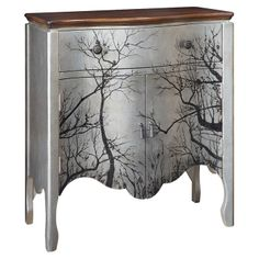 Foret Cabinet - I'm going to try this myself by painting a similar cabinet that I have black, layer silver/white over it, and then either apply a decal or paint the trees in, not sure, will have to check my mood at that point :-)
