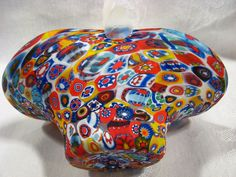 Murano, Italy Millefiori Basket, Glass, Vintage, Italian, Flowers ...