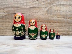 Art Able Collectible Handmade Carving Painting Wood Matryoshka Dolls Gift Fragrant Aroma