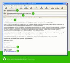 Bewerbung per Email Muster