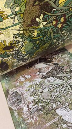 """Original linoleum print with chickens and cat Reductoin linocut """"Hunter"""" 2019 Printing of sixth layer Limited Editions of 10 Paper ink, etching Linocut Prints, Art Prints, Block Prints, Linoprint, Inspiration Art, Art Graphique, Wood Engraving, Art Sketchbook, Printmaking"""