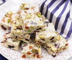 Old Fashioned white Christmas slice - Australian Women's Weekly. Our old-fashioned white Christmas recipe is a true Australian Christmas classic. Make ahead and wrap in cellophane for a delicious homemade Christmas food gift idea. Aussie Christmas, Christmas Ham, Christmas Food Gifts, Xmas Food, Christmas Cooking, Homemade Christmas, Christmas Desserts, White Christmas, Christmas 2019