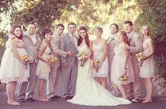 blush and gray bridal party, photo by Emily Heizer