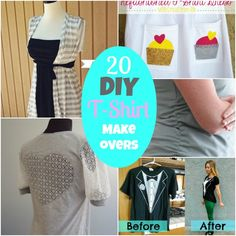 DIY Round UP: 20 DIY T-Shirt ReFashions