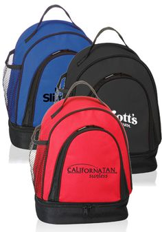 Two-Tone Insulated Lunch Bags. Personalized & Custom Printed With Your Logos or Graphic Designs!