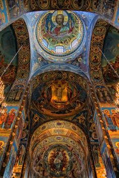 Church of the Savior on Spilled Blood, St. Petersburg, Russia. 7000 square meters of Mosaic