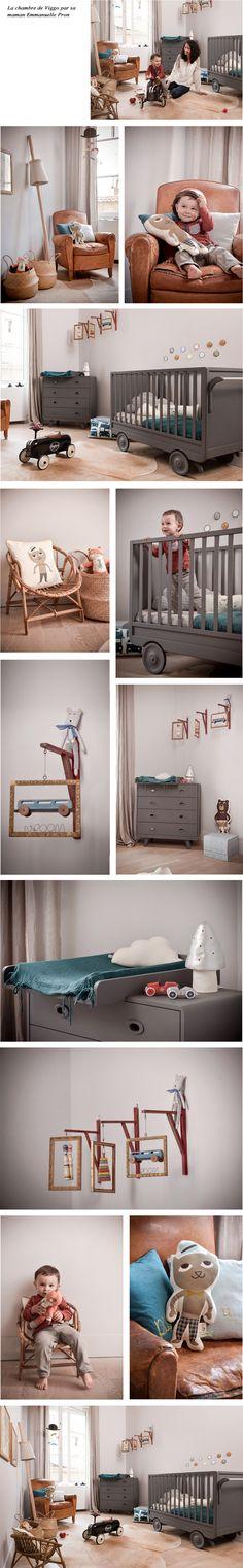 Lit enfant, meubles enfant design et accessoires : Chambre de Viggo Emmanuelle Pron, tous le mobilier design chez Les Enfants du Design
