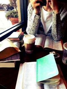 This reminds me of me with my books and papers spread out at the cafe while Mockingbird had her voice lessons.