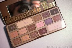"""Too Faced """"Chocolate Bar"""" Palette Swatches"""