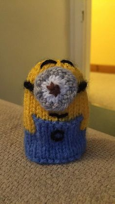 Children will love this knitted Minion, even more so when they realise he is hiding a creme egg or similar inside! Once the egg is eaten he becomes a cute finger puppet. Requiring tiny oddments of yarn and no stuffing, he is super quick and easy to knit. Tea Cosy Knitting Pattern, Knitting Patterns Free, Free Knitting, Knitting Ideas, Minion Easter Eggs, Mindfulness For Kids, Creme Egg, Chocolate Orange, Hobbies And Crafts