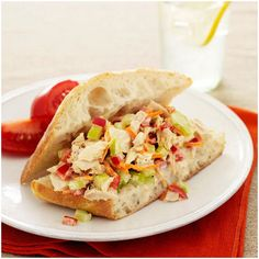 This tuna salad use low-fat mayo and non-fat yogurt and veggies which makes this salad very healthy and exciting to munch!