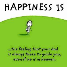 Happiness~~~ Or just not around.... Where r u daddy...? ;-;
