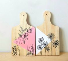 Wood Crafts, Diy And Crafts, Arts And Crafts, Paper Crafts, Painted Trays, Painted Pots, Name Wall Art, Hand Art, Custom Tumblers