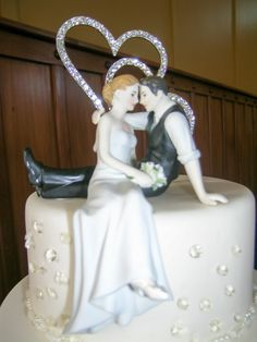 Tammy and Westley - October 2014 - cake topper with diamanté accents