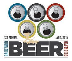 Backyard Beer Olympics Invitation