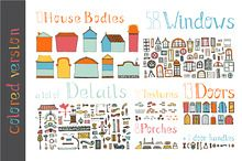 Hand Drawn House Elements