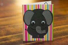 Birthday Card, Third Birthday, Handmade Birthday, Happy Birthday, Elephant…