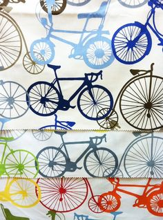 Fun Fabric Shopping with Little Crown Interiors - Bicycle print fabric