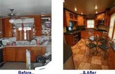 Mobile home remodels before and after...