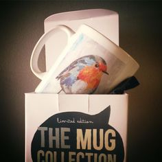 // NEW MUG COLLECTION SOON! // limited edition from the original artwork by ©philippe patricio // all rights reserved // Robin Bird, Collage Art, Original Artwork, Birds, Mugs, Animals, Collection, Decor, Animales