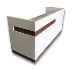 This amazing gloss white reception counter or reception desk had a modern look with a warm feel. If you are looking for a modern reception counter or a modern reception desk this is the product for you. Reception Desk Height, Office Reception Design, Modern Reception Desk, Modern Office Design, Reception Counter Design, Modern Offices, Cash Counter Design, Shop Counter, Dental Reception