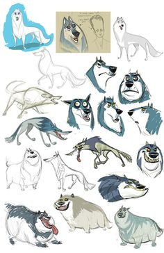 Portfolio || CHARACTER DESIGN REFERENCES | Find more at https://www.facebook.com/CharacterDesignReferences if you're looking for: #line #art #character #design #model #sheet #illustration #best #concept #animation #drawing #archive #library #reference #anatomy #traditional #draw #development #artist #how #to #tutorial #conceptart #modelsheet #animal #animals #dog #wolf #fox #dogs