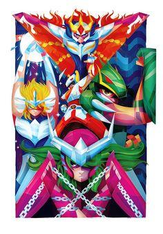 Les chevaliers du zodiaque (Saint Seiya) - Artiste(s) : Carlos Lerma - Source… Art Manga, Manga Anime, Gandalf, Saint Seiya Lost Canvas, Knights Of The Zodiac, Asgard, Science Fiction, O Pokemon, Geek Games