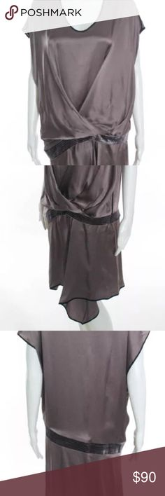 6267 Night Out Dress Dirty Purple and Black Silk Dress 6267 Dresses Asymmetrical