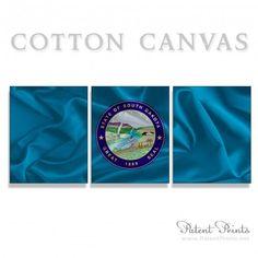 South Dakota State Seal and Flag Canvas Print