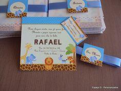Modelo convite safari chá