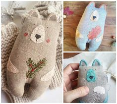 Animal Sewing Patterns, Doll Patterns, Sewing Toys, Baby Sewing, Fabric Toys, Fabric Crafts, Softies, Ribbon Embroidery, Embroidery Designs
