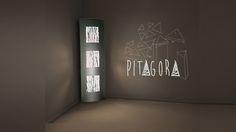 La lampada Pitagora nella versione da terra h 180 cm