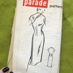 1950s Vintage Sewing Pattern  Cheongsam Biombshell by SelvedgeShop, $14.00
