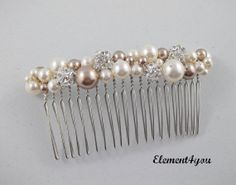 Bridal hair comb wedding hair accessories bridal by Element4you $27 Etsy