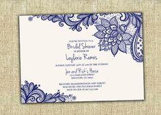 Bridal Shower Invitation Wedding Shower by AdrianasArtStudio