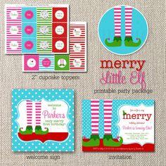 DIY Printable Birthday Party Package Merry by totfulmemories, $35.00