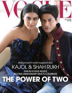 Shahrukh Khan and Kajol - Vogue magazine cover Oktober 2009 Bollywood Couples, Bollywood Stars, Bollywood Celebrities, Bollywood Fashion, Shahrukh Khan And Kajol, Vogue Magazine Covers, Sr K, Perfect Together, Vogue India