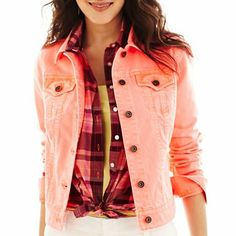 Style & Co Colored Wash Denim Jacket, Only at Macy's | Shops, Warm ...