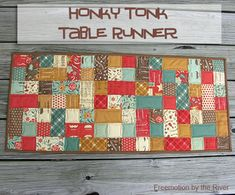 Freemotion by the River: Honky Tonk Table Runner