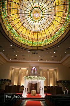 Jewish Wedding, NJ Temple Synagogue Sanctuary