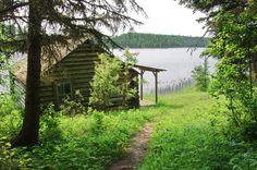 Grey Owl's cabin on Ajawaan Lake, Prince Albert National Park