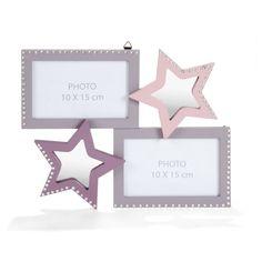 Cadre star 33x26cm Rose / Lilas - Princesse - Objets de déco enfants - Décoration pour enfant - Univers des enfants - Décoration d'intérieur - Alinéa